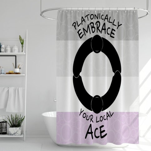 Platonically Embrace Your Local Ace Shower Curtain