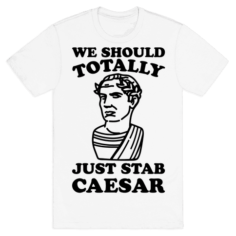 We Should Totally Just Stab Caesar Mean Girls Parody Mens T-Shirt
