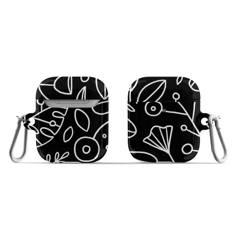 Black and White Plant Pattern AirPod Case