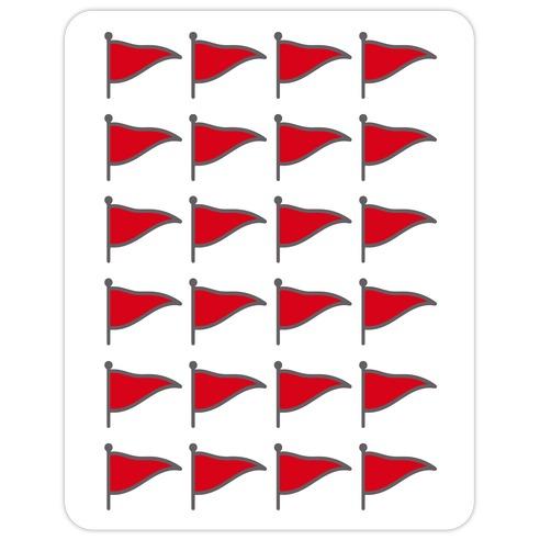 Red Flags Die Cut Sticker