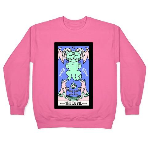 Creepy Cute Tarot: The Devil White Print Pullover