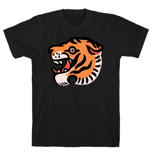 Old School Tiger Tattoo Head T-Shirt