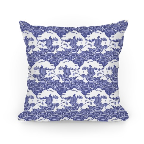 Traditional Japanese Waves Pillow