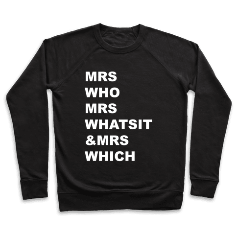 Mrs Who Mrs Whatsit & Mrs Which Pullover