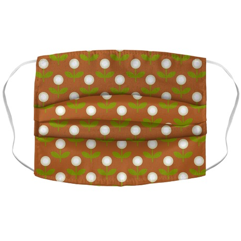 Dainty Retro Dandelions Brown Pattern Accordion Face Mask