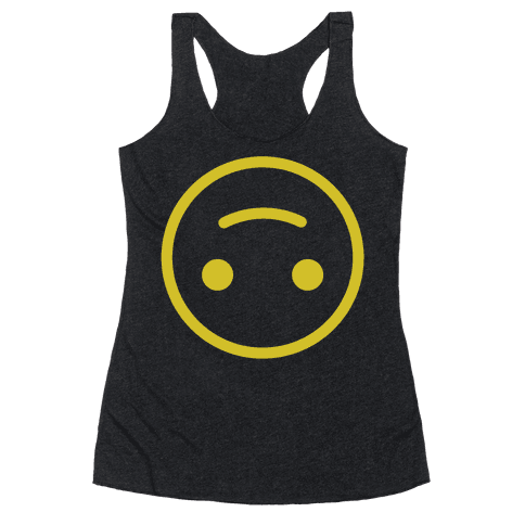 Upside-down Smiley Racerback Tank Top