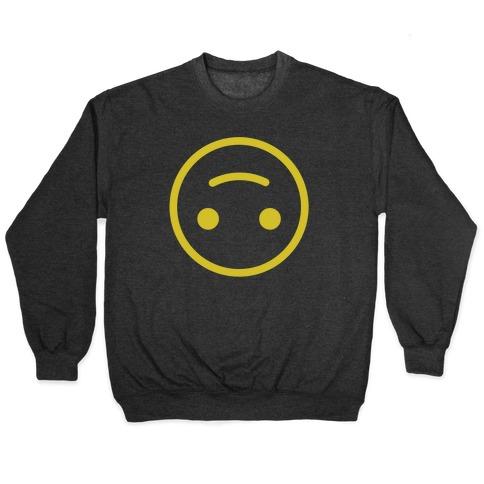 Upside down Smiley Crewneck Sweatshirt   LookHUMAN