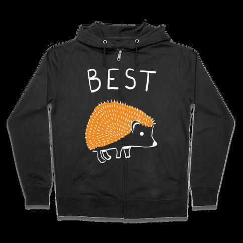 Best Buds Hedgehog Zip Hoodie