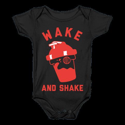 Wake And Shake Baby Onesy