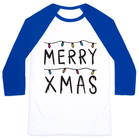 Merry Xmas Things Baseball Tee