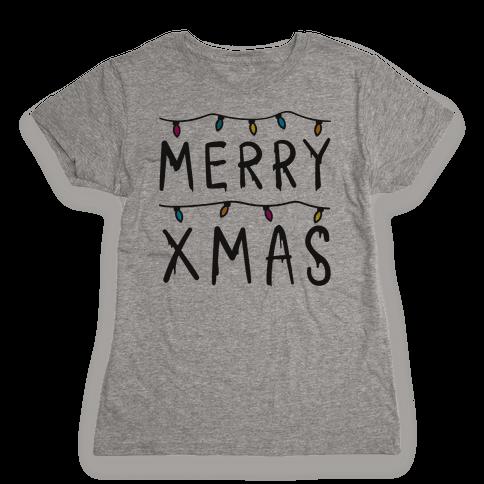 Merry Xmas Things Womens T-Shirt