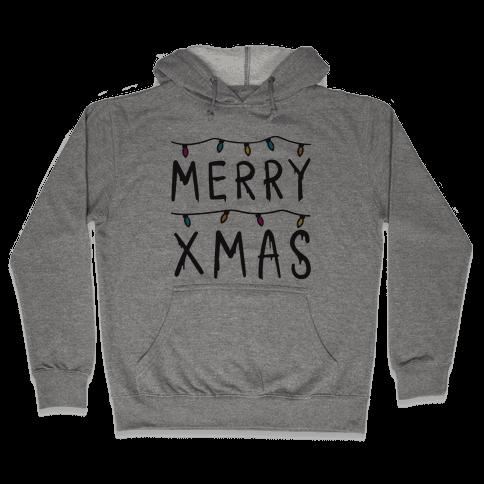 Merry Xmas Things Hooded Sweatshirt