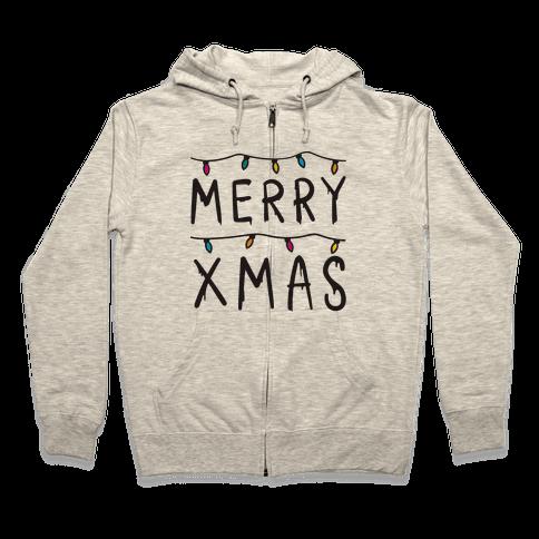Merry Xmas Things Zip Hoodie