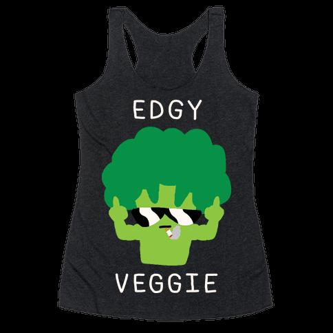 Edgy Veggie Racerback Tank Top