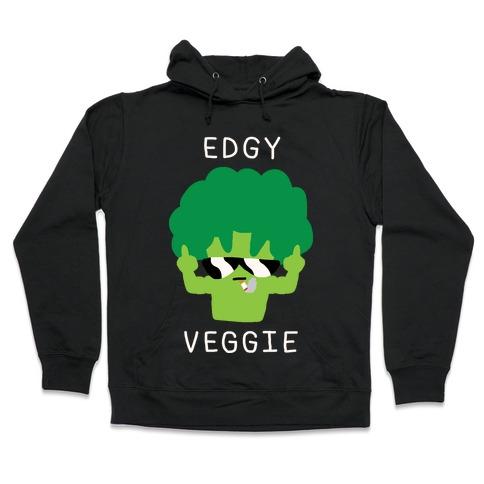 Edgy Veggie Hooded Sweatshirt