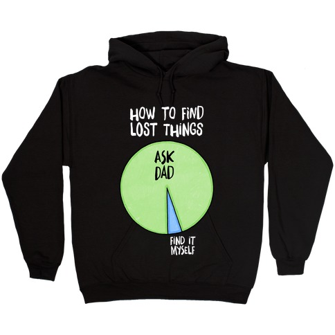 How To Find Things: Ask Dad Hooded Sweatshirt