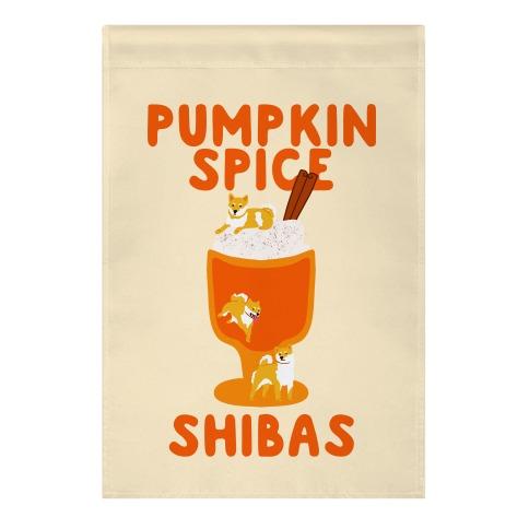 Pumpkin Spice Shibas Garden Flag