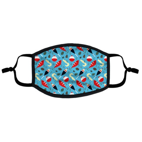 Fishing Tackle Pattern Flat Face Mask