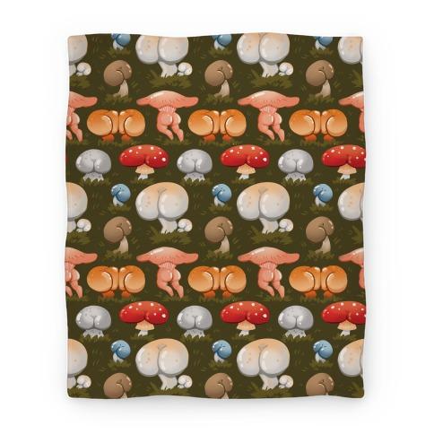 Butt Mushroom Pattern Blanket