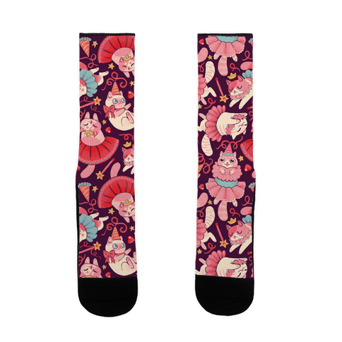 Cute Princess Cat Pattern Sock