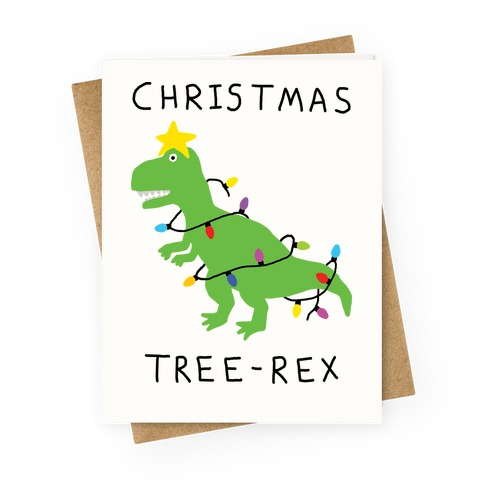 Christmas Tree Rex Greeting Card