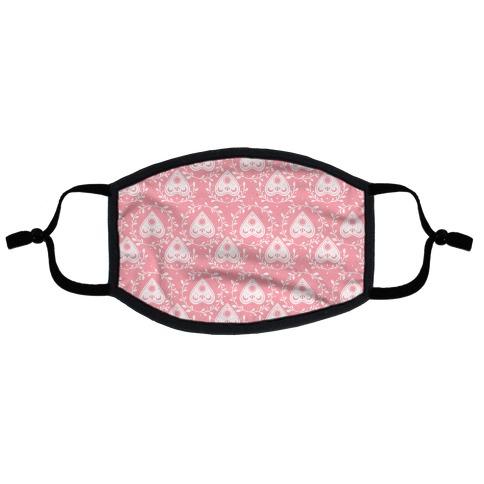 Planchette Pattern Pink Flat Face Mask
