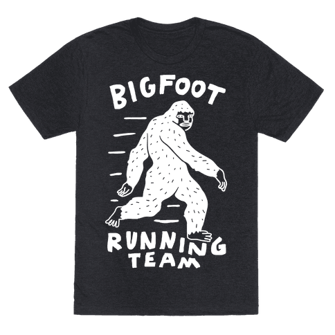 Bigfoot Running Team Mens T-Shirt