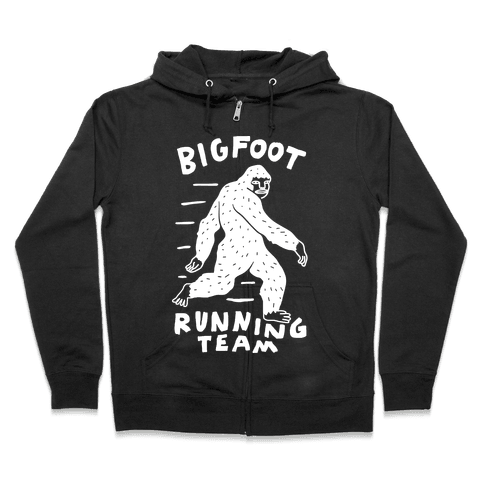 Bigfoot Running Team Zip Hoodie