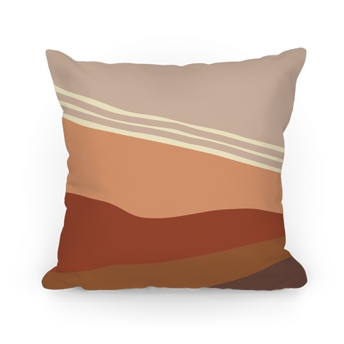 Terracotta Peach Sunset Pillow