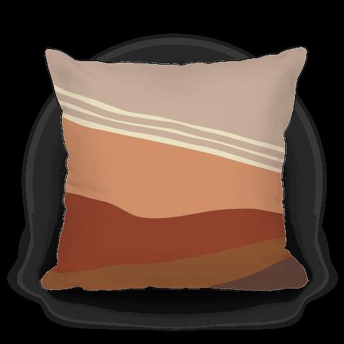 Terracotta Peach Sunset Pillow