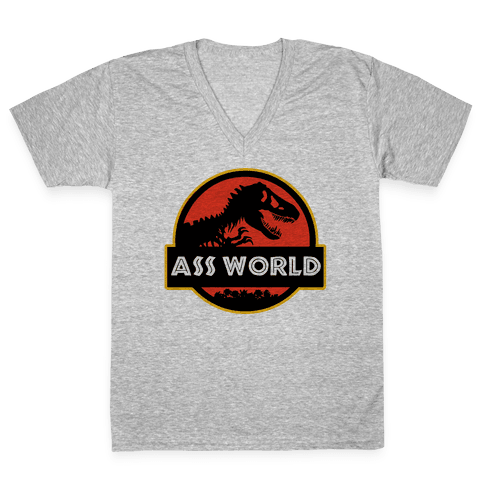 Ass world V-Neck Tee Shirt