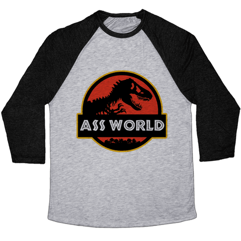 Ass world Baseball Tee