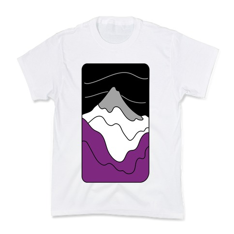 Groovy Pride Flag Landscapes: Ace Flag Kids T-Shirt