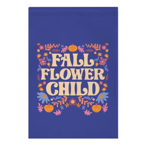 Fall Flower Child Garden Flag