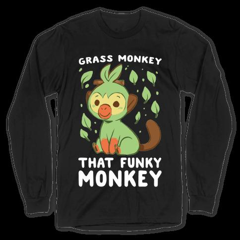 Grass Monkey, That Funky Monkey - Grookey Long Sleeve T-Shirt