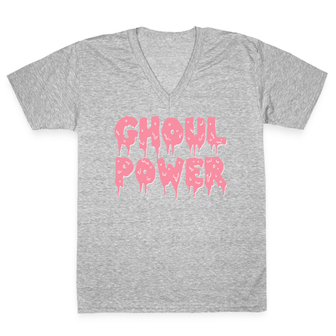 Ghoul Power V-Neck Tee Shirt
