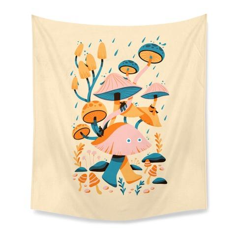Mushroom Forest Spirits Tapestry