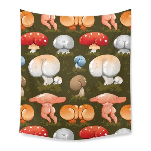 Butt Mushroom Pattern Tapestry