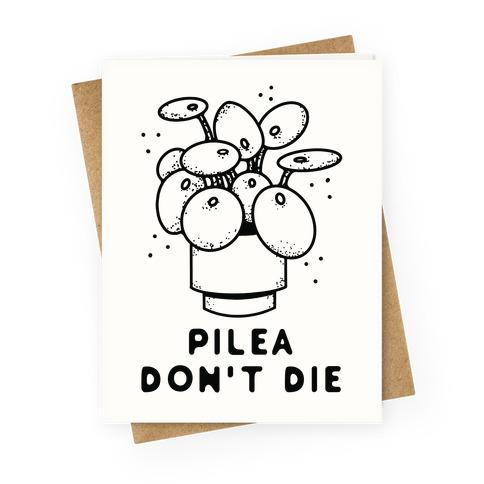 Pilea Don't Die Greeting Card