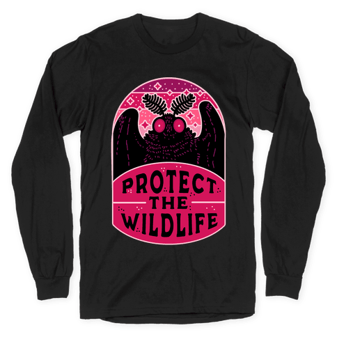 Protect the Wildlife (Mothman) Long Sleeve T-Shirt