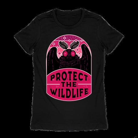 Protect the Wildlife (Mothman) Womens T-Shirt