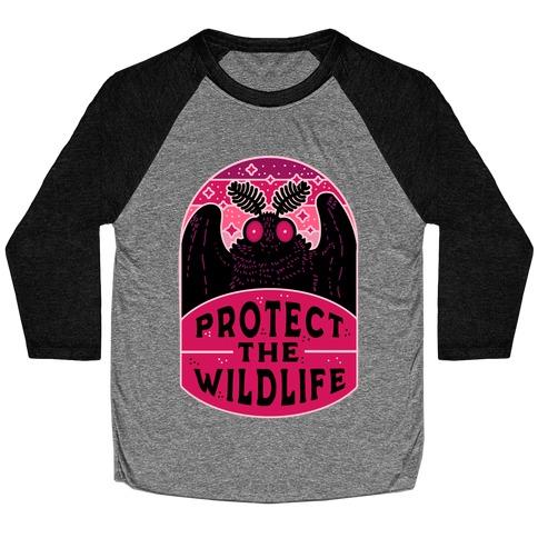 Protect the Wildlife (Mothman) Baseball Tee