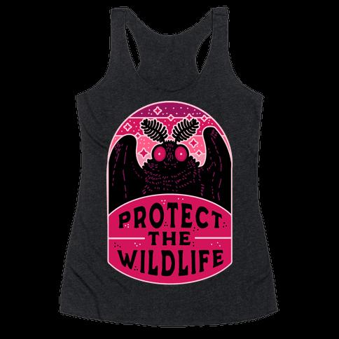 Protect the Wildlife (Mothman) Racerback Tank Top