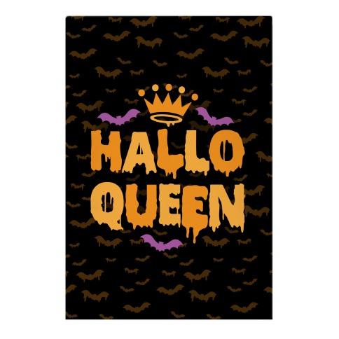Hallo Queen Garden Flag