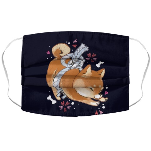Shiba Inu Dog Accordion Face Mask
