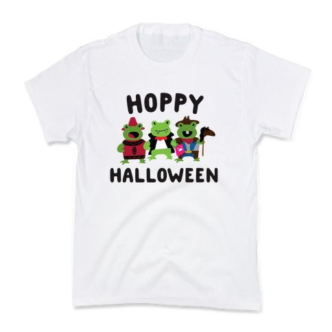 Hoppy Halloween Frogs Kids T-Shirt