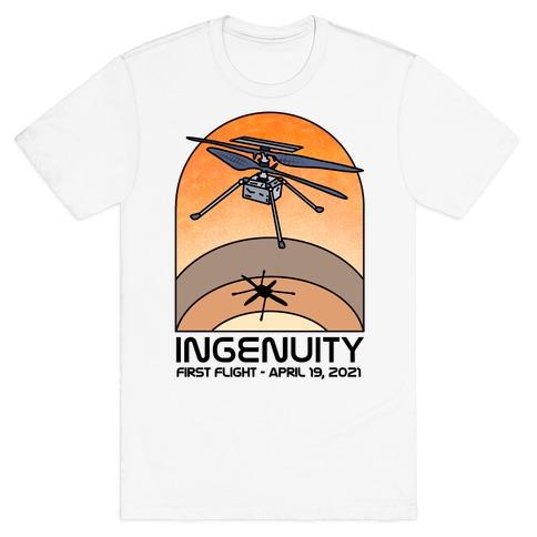 Ingenuity First Flight Date T-Shirt