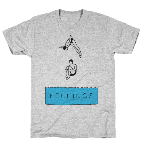 Diving Into Feelings Mens T-Shirt