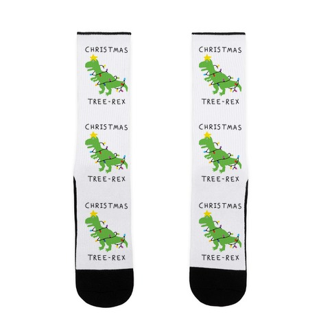 Christmas Tree Rex Sock
