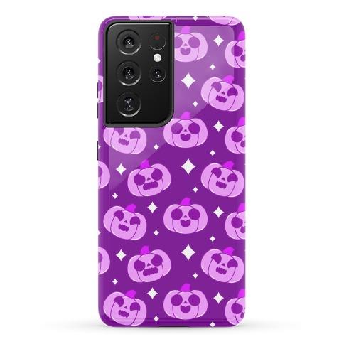 Kawaii Pumpkins Pattern Purple Phone Case